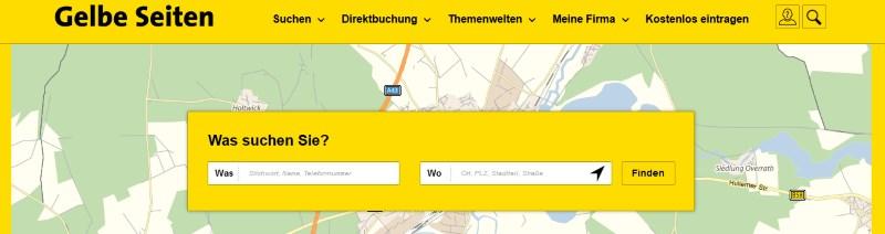 Wie suchen Sie mit den Gelben Seiten?