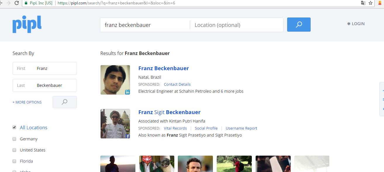 Pipl Suche Franz Beckenbauer